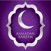 """""""Ramadan Kareem"""" (Generous Ramadan) moon card in vector format. — Stock Vector"""