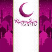 """""""ramadan kareem"""" (genereus ramadan) moskee kaart in vector-formaat. — Vettoriale Stock"""