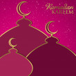 "Stock Vector: ""RamadKareem"" (Generous Ramadan) mosque card in vector format"