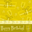 Bright Happy Birthday present card — Imagen vectorial