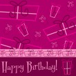 Bright Happy Birthday present card — Vector de stock #31187325