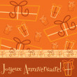 Bright Happy Birthday present card — Vector de stock #31187329