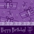 Bright Happy Birthday present card — Vector de stock #31187333