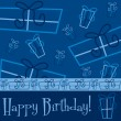 Bright Happy Birthday present card — Stockvectorbeeld