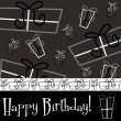 Bright Happy Birthday present card — Vector de stock #31187357
