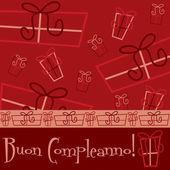 Cartão presente brilhante feliz aniversário — Vetorial Stock