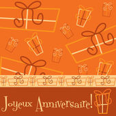 Parlak happy birthday hediye kartı — Stok Vektör