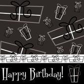 Světlé šťastné přítomné přání k narozeninám — Stock vektor