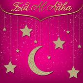 Hängende dekoration eid al-adha-karte — Stockvektor