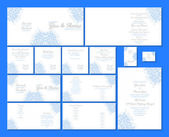 Wedding stationery set — Stock Vector