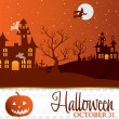 Jack o' Lantern Halloween invitation card — Image vectorielle