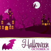 Bat Halloween invitation card — Stock Vector