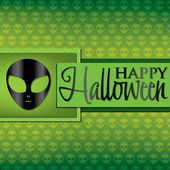 Alien Halloween card — Stock Vector