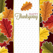 Leaf Thanksgiving card — Stock Vector