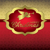 Elegant Label Christmas card — Stock Vector