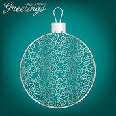 Filigree Christmas card — Stock Vector
