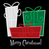 Funky gift Christmas card — Vettoriale Stock
