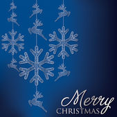 Formal Christmas filigree card — Vecteur