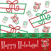 Funky gift Christmas card — Stock Vector