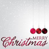 Elegant bauble Christmas card — Stock Vector
