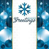 Christmas baubles invitation card — Stock Vector