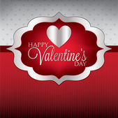Valentine's Day card or invitation — Stock Vector