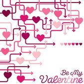 Heart maze — Stock Vector
