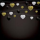 Valentine baubles — Stok Vektör