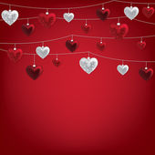 Valentine baubles — 图库矢量图片