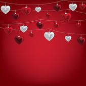 Valentine baubles — Stockvektor