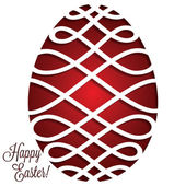 Paper cut out Easter egg card — Stock Vector