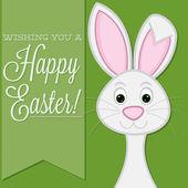 Retro style bunny card — Stock Vector
