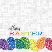 Retro Happy Easter card — Stock Vector