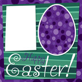 Bright retro Happy Easter card — Stock Vector