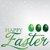 Elegant Easter egg card — Stock Vector