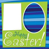 Bright retro Happy Easter card — Stock Vector