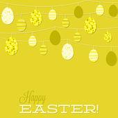 String of retro Easter eggs — Stock Vector