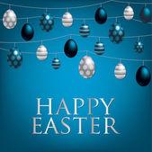 Stringa di carta di uova di Pasqua — Vettoriale Stock