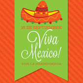Retro style Viva Mexico card — Vector de stock