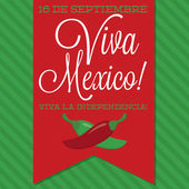 Retro style Viva Mexico card — Stock Vector