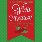 Retro style Viva Mexico card — Stock Vector
