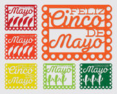 Mexican 'papel picado' set — Stockvektor