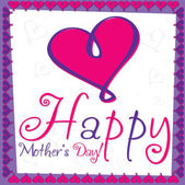 Happy Mother's Day — Vector de stock