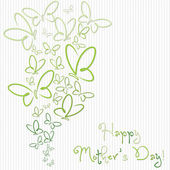 Glückliche Mutter Tag Schmetterling Karte — Stockvektor