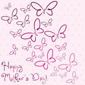 Happy Mother's Day butterfly card — Stock Vector