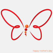 Cut out butterfly card — Vecteur