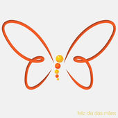 Cut out butterfly card — Vector de stock