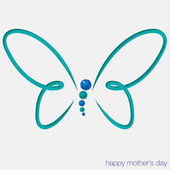 Cut out butterfly card — Stock Vector