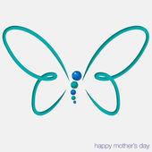 Cut out butterfly card — Stok Vektör