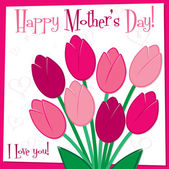 Mother's Day tulip card — Stock Vector